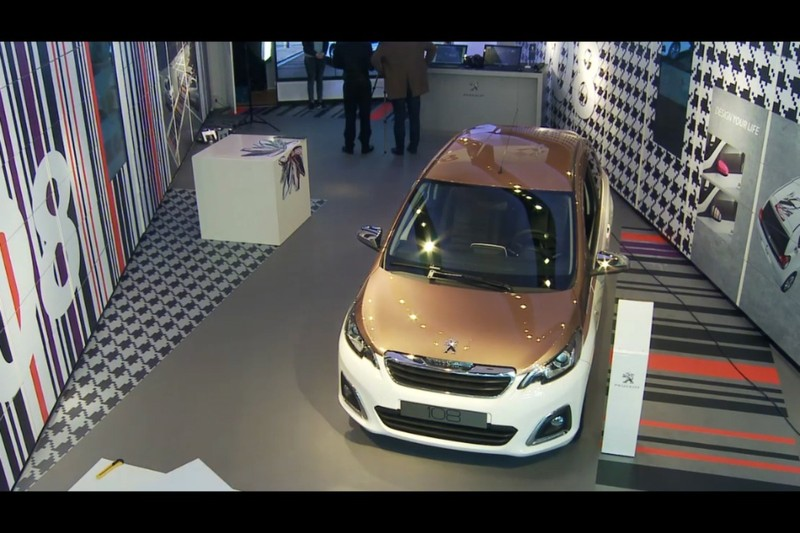 Peugeot 108 pop-up store Amsterdam