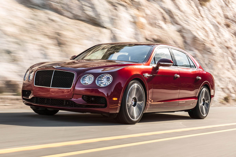 Bentley Flying Spur V8 S vult gat op