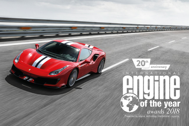 En dat is drie: Ferrari-V8 opnieuw Engine of the Year