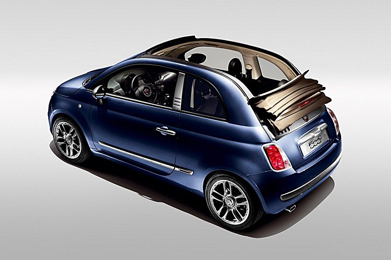 Fiat 500C by Diesel in stone-washed denim look
