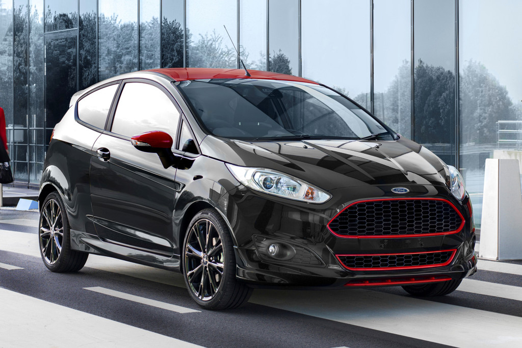 prijs 140 pk sterke ford fiesta red black editions bekend autonieuws. Black Bedroom Furniture Sets. Home Design Ideas
