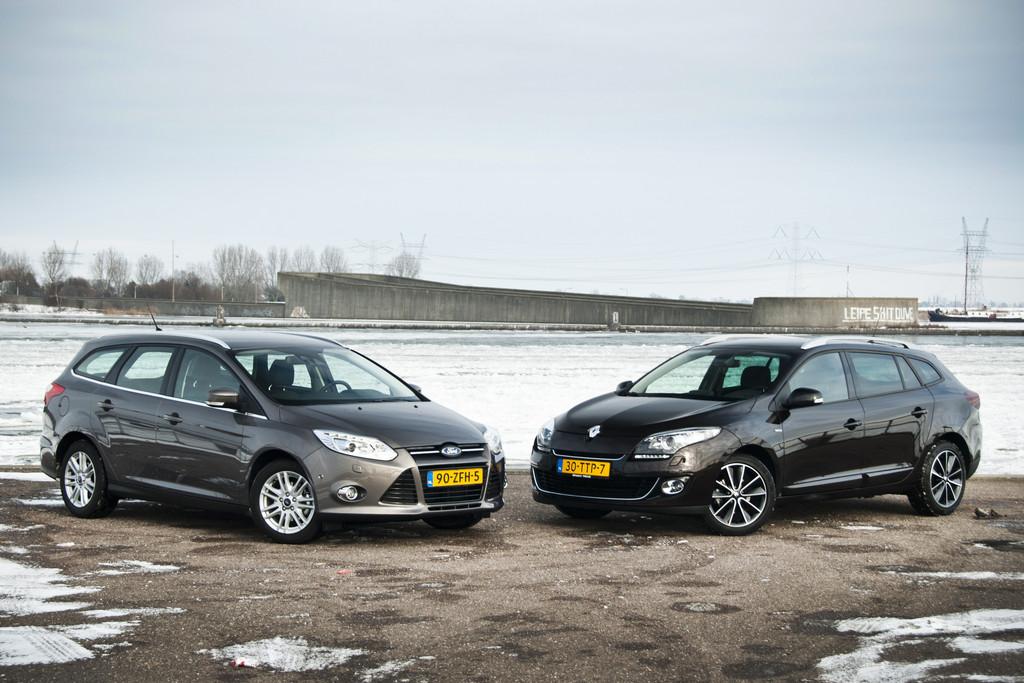 dubbeltest ford focus wagon 1 6 tdci en renault m gane estate 1 5 dci fotoreportages. Black Bedroom Furniture Sets. Home Design Ideas