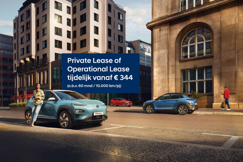 Hyundai Kona Electric vanaf € 344 per maand