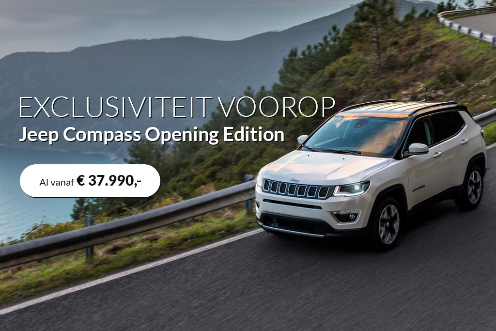 jeep compass opening edition actie. Black Bedroom Furniture Sets. Home Design Ideas