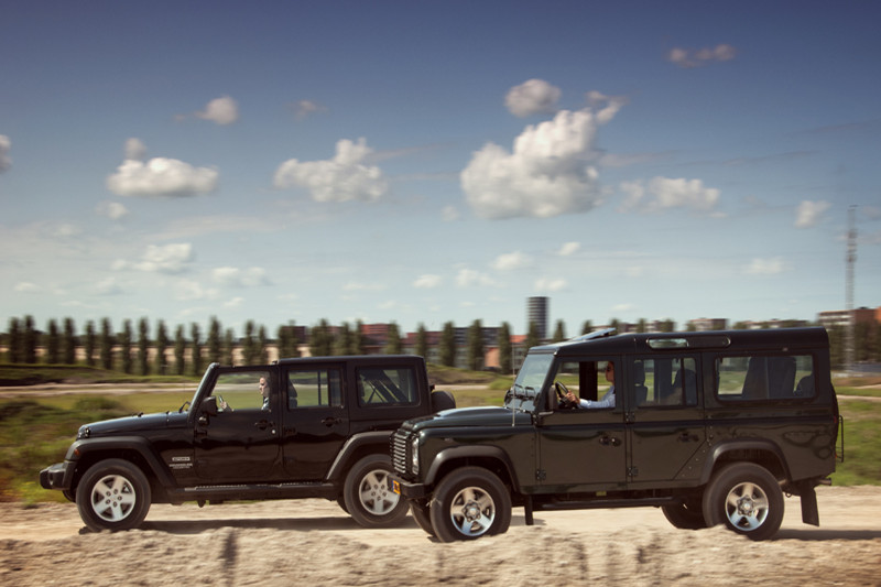 Jeep Wrangler Unlimited 2.8 CRD en Land Rover Defender 110