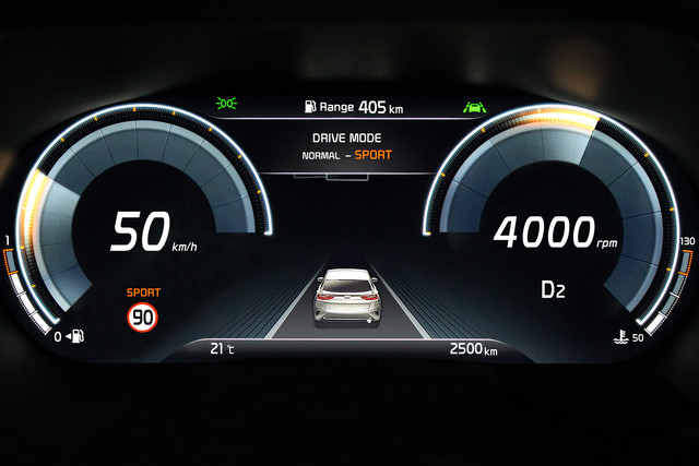 Kia XCeed Supervision cluster 2019