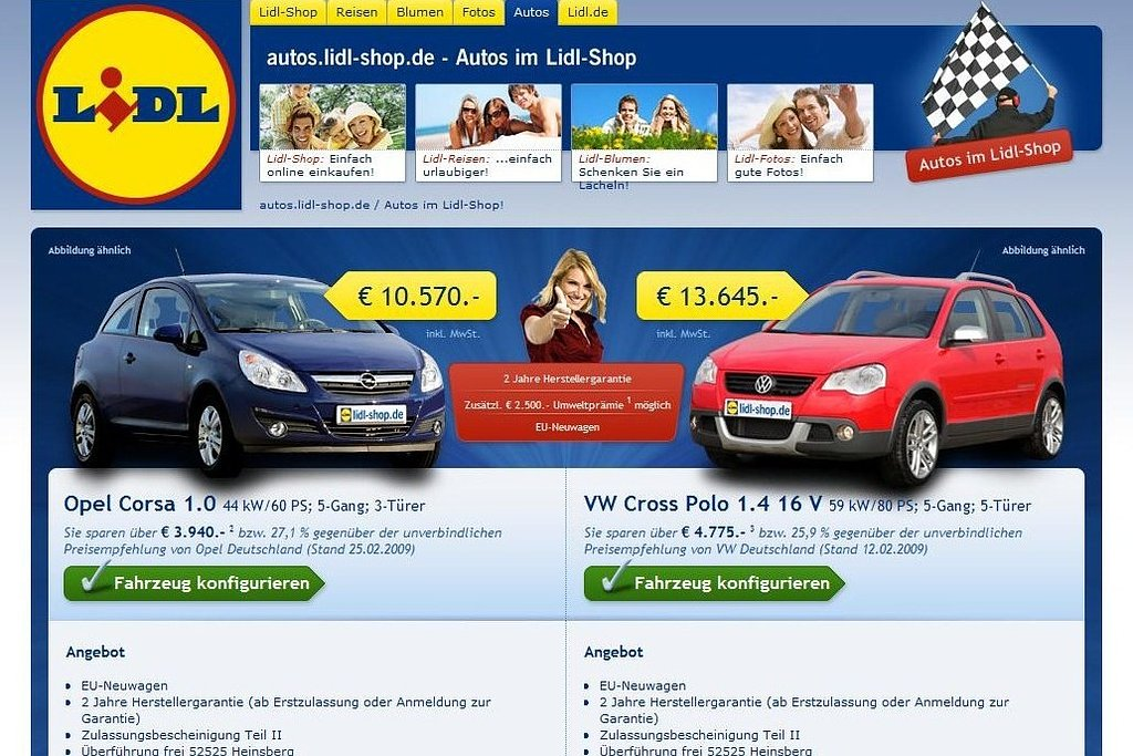 lidl verkoopt auto s autonieuws. Black Bedroom Furniture Sets. Home Design Ideas