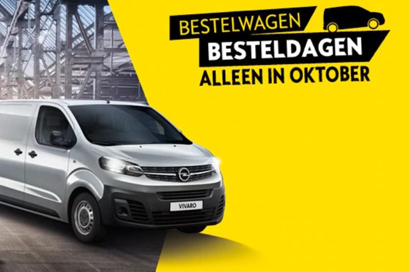 Bestelwagen Besteldagen bij Opel