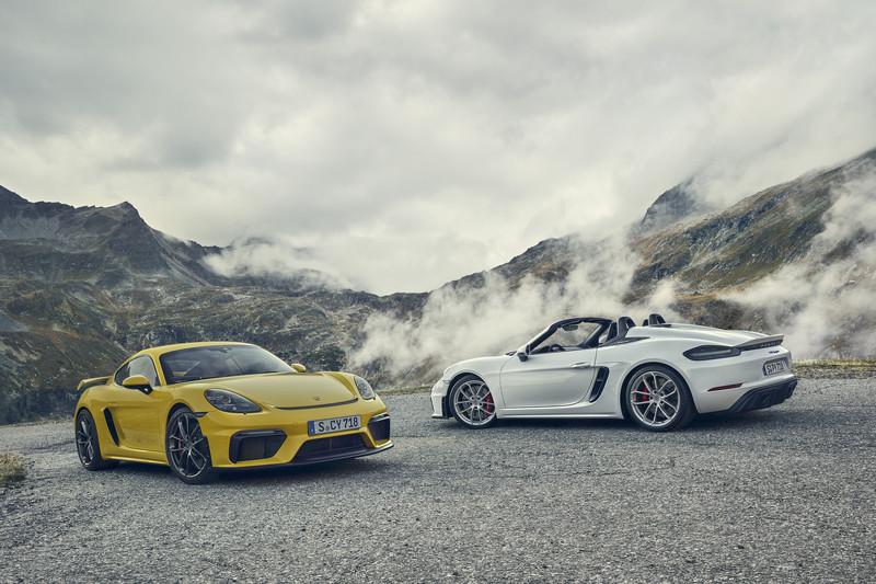 Verschillende namen, zelfde concept: Porsche 718 Spyder en 718 Cayman GT4