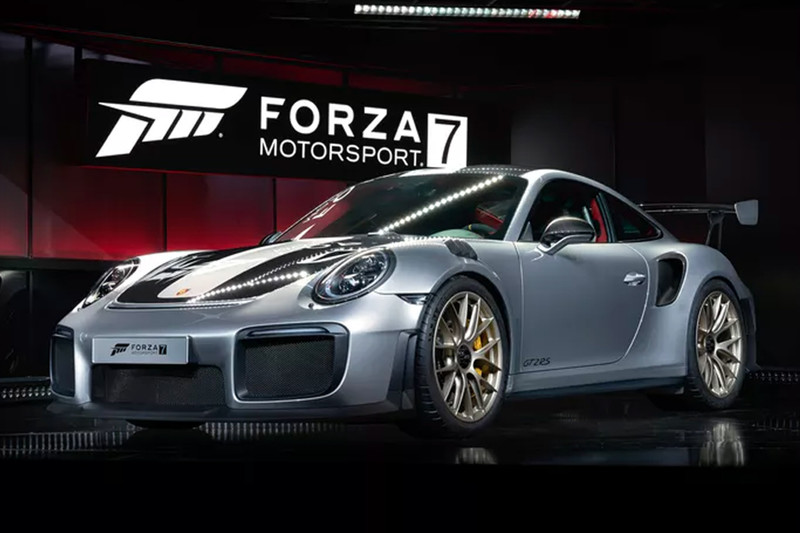 porsche 911 gt2 rs onthuld tijdens gamebeurs autonieuws. Black Bedroom Furniture Sets. Home Design Ideas