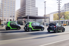 Smart forfour, fortwo cabrio en fortwo coupé Electric Drive