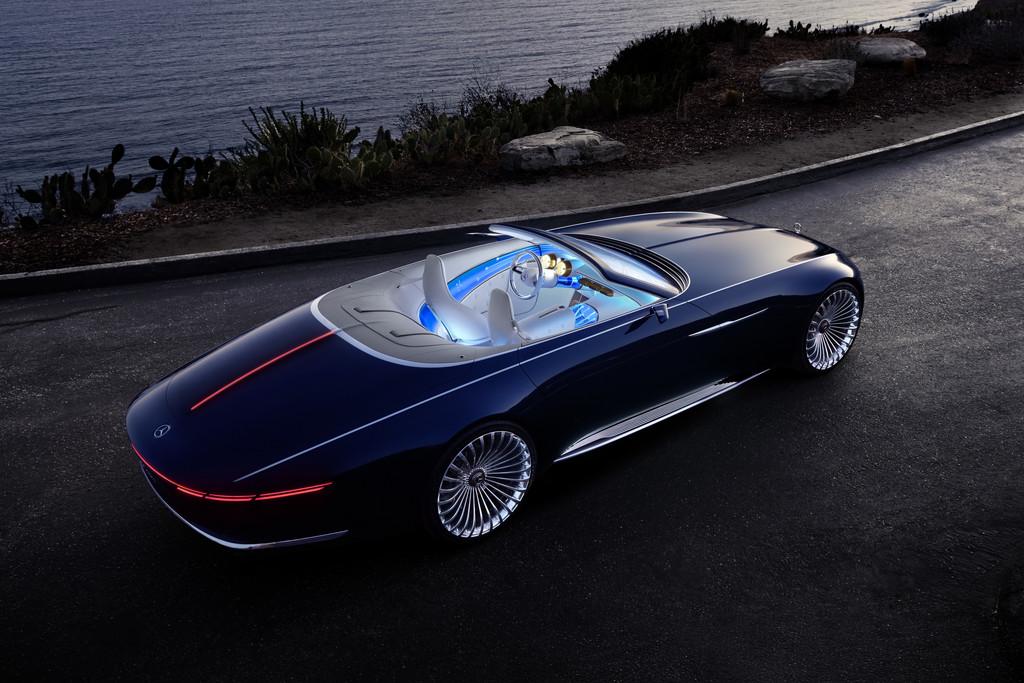 vision mercedes maybach 6 cabriolet heeft elektrische aandrijflijn autonieuws. Black Bedroom Furniture Sets. Home Design Ideas