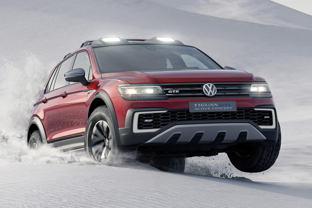 volkswagen tiguan gte active concept stoere vermomming autonieuws. Black Bedroom Furniture Sets. Home Design Ideas