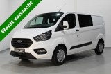 Ford Transit Custom 2.0 TDCi 130 pk Dubbel Cabine Trend L2H1 Airco, PDC V+A, Achterklep, Cruise, Blu