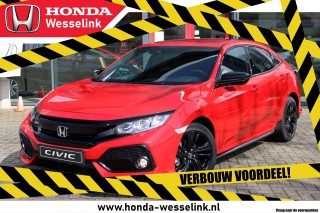 Civic 1.0T Elegance Black Edition - All-prijs | Leder | navi | Honda Sensing | VERBOUW