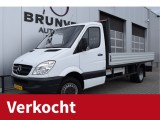Mercedes-Benz Sprinter 516 CDI 163pk, Trekhaak (3500kg), Open Laadbak (432x203x40), Airco, wb432, Blue