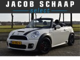 Mini Cabrio John Cooper Works Chili 211pk Full option / Leder / Xenon / Climate control / Na